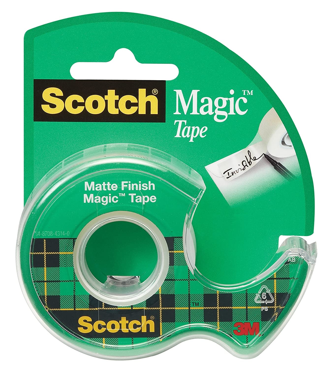 Amazon.com : Scotch Magic Tape, 1/2 x 450 Inches, 12 Rolls (104 ...