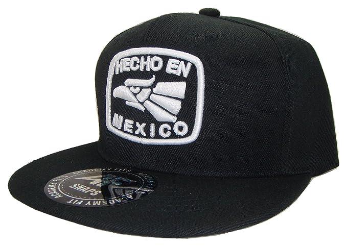 The Hat Shoppe THS Hecho en México Flat Bill Snapback Gorra de béisbol  Sombrero (Talla 5fbc14dee4a