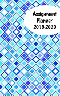 product image for House of Doolittle 2019-2020 Weekly Academic Planner Assignment Book, Squares, 5 x 8 Inches, August - August (HOD274RTG71-20)