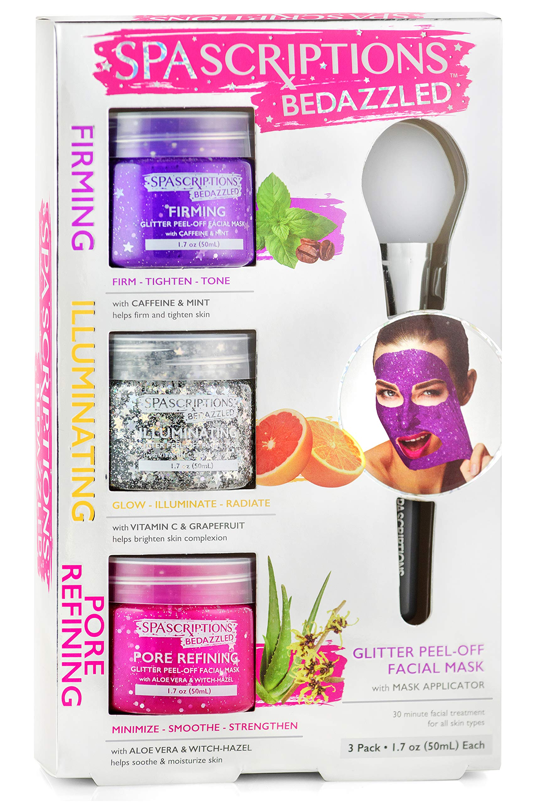 BeDazzled- Firming, Illuminating, Pore Refining Glitter Peel-Off Masks