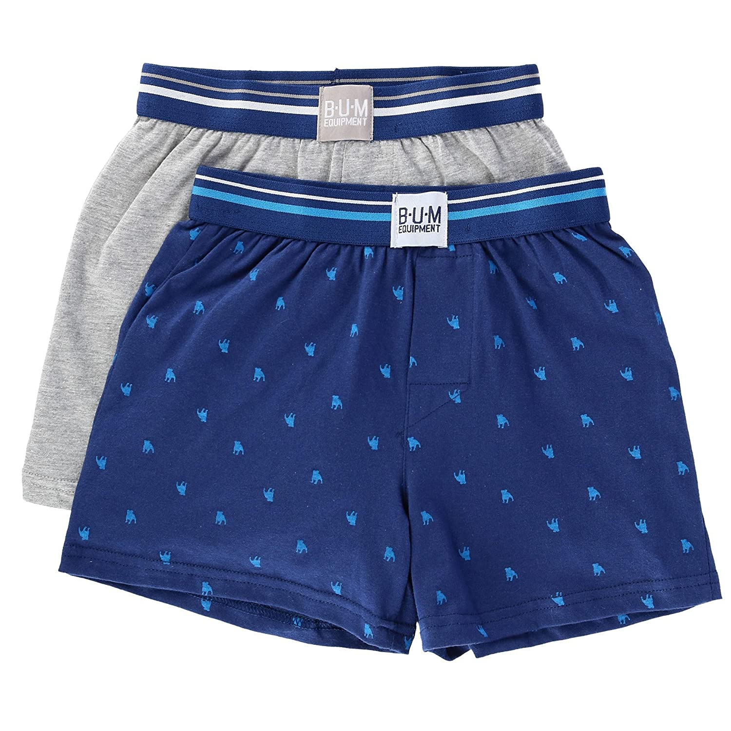 B.U.M. Boy's Knit Boxer Short Underwear (2 Pair Pack)