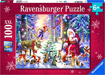 Ravensburger Christmas Puzzle 2021 Amazon Com Ravensburger Christmas In The Forest 100 Piece Xxl Jigsaw Puzzle For Kids Every Piece Is Unique Pieces Fit Together Perfectly Toys Games