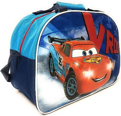 PERLETTI Kinder Sporttasche Cars Trainingtasche Disney Pixar Perfekt für in die Turnhalle, auf Reisen Oder in der Freizeit Blau 40x30x20 cm