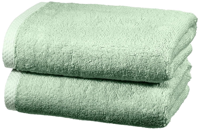 AmazonBasics - Juego de 2 toallas de secado rápido, 2 toallas de mano - Verde: Amazon.es: Hogar