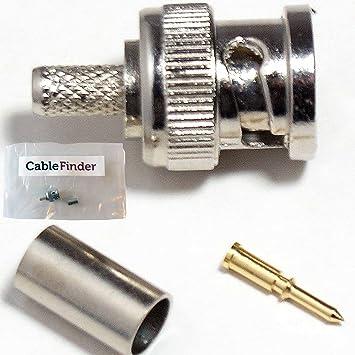 QTY 10 - para conectores macho BNC - CCTV Cable Coaxial RG59 - RG62, URM70