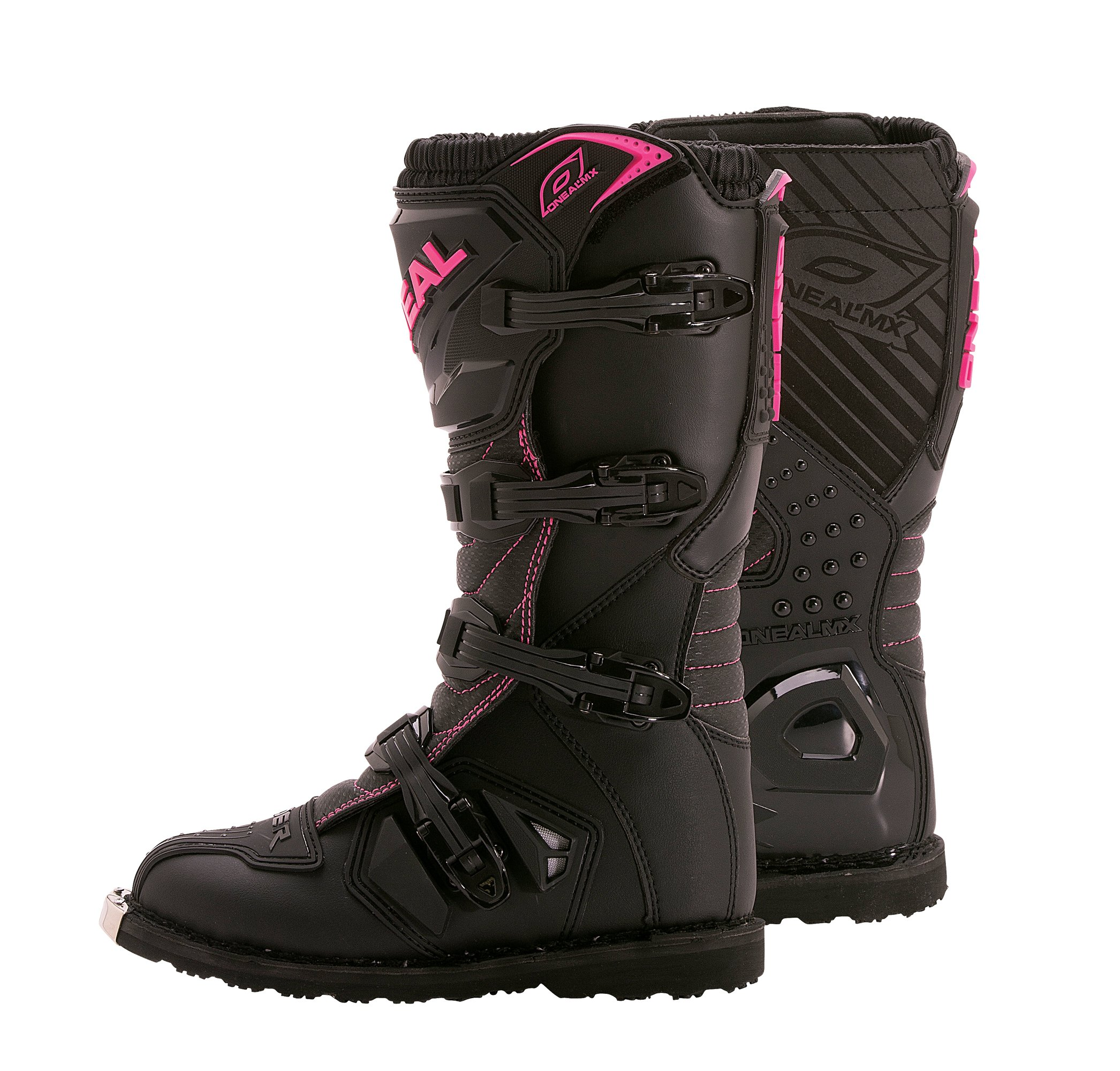O'Neal Women's Rider Boots (Black/Pink, Size 5)