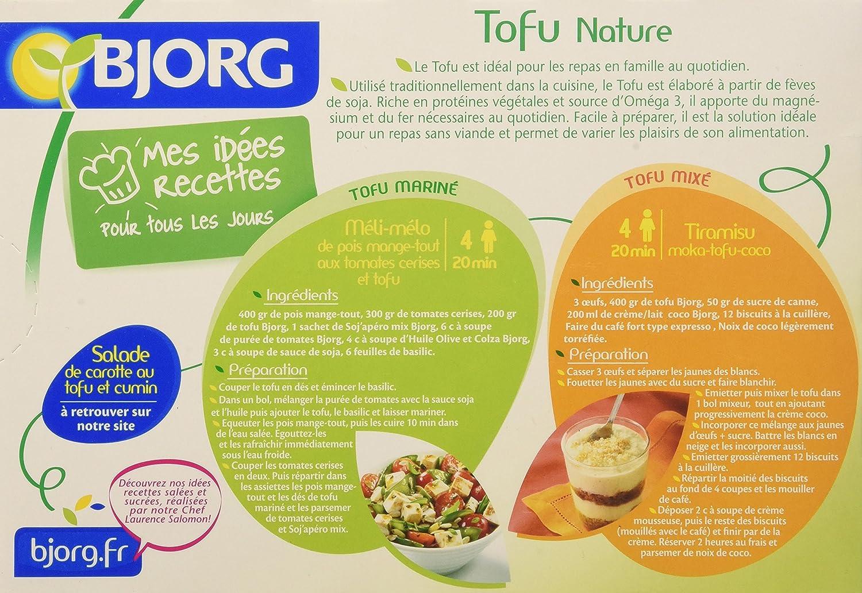 BJORG Tofu Naturaleza Bio 2 X 200 Destrucción De 5: Amazon.es ...