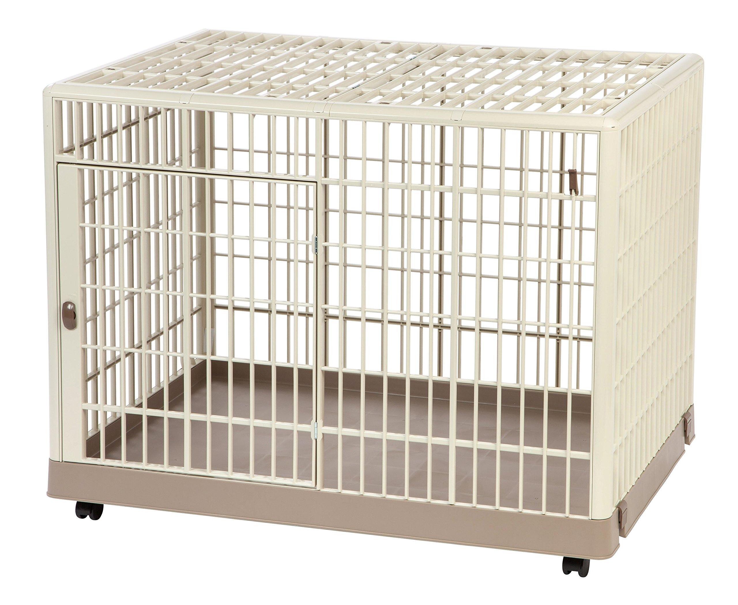 IRIS Plastic Animal Cage, Beige, Small