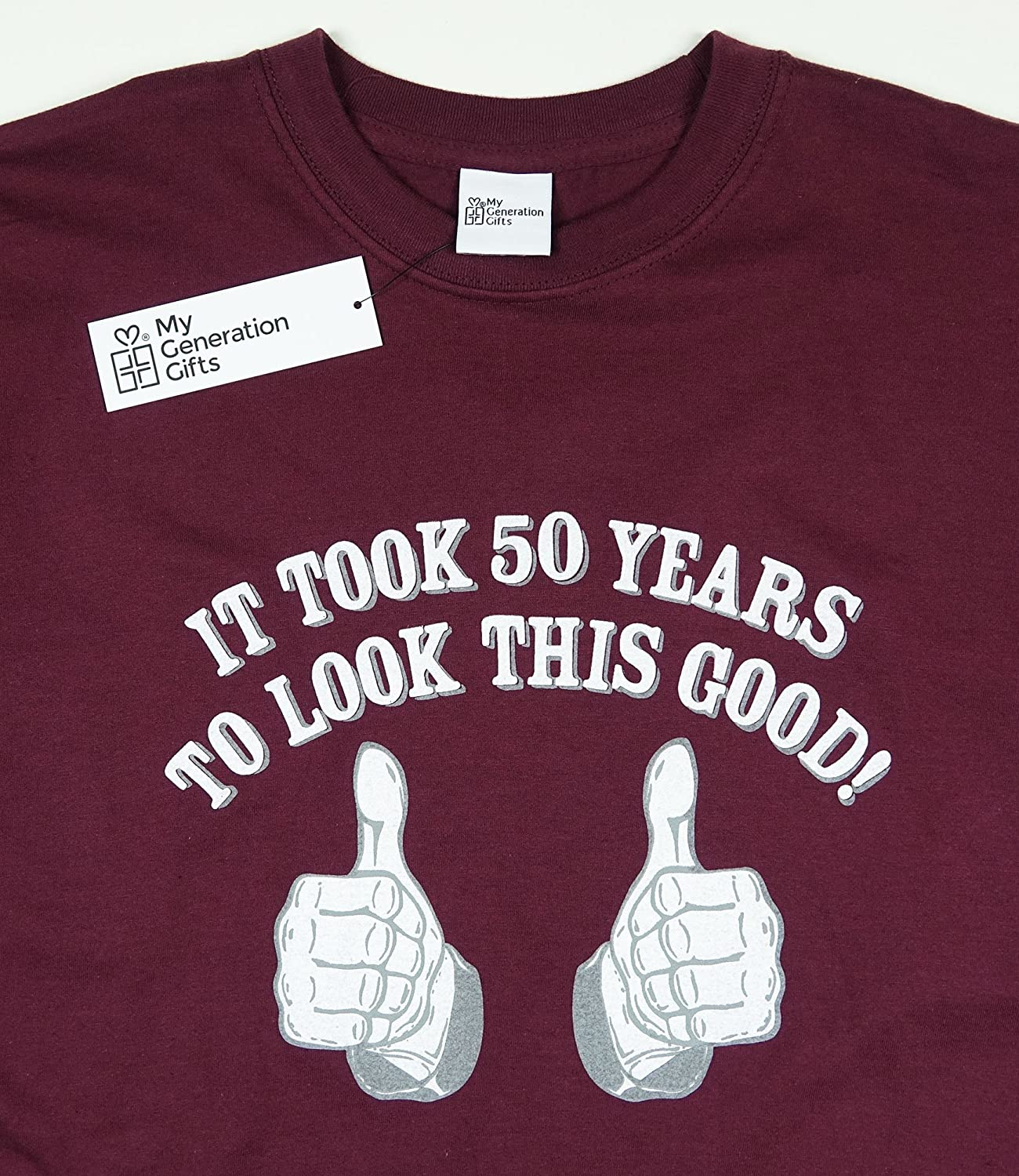 Amazon.com: My Generation Gifts It Took 50 Years To Look This Good! - 50th Birthday Gift/Present T-Shirt Mens: Clothing