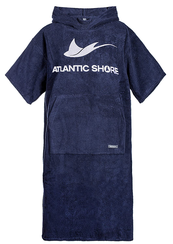 Surfponcho Unisex * Albornoz de algod/ón de Primera Calidad ➤ Azul Claro Atlantic Shore