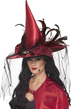 Ladies Purple Halloween Witches Mini Hat with Veil Fancy Dress Costume Outfit