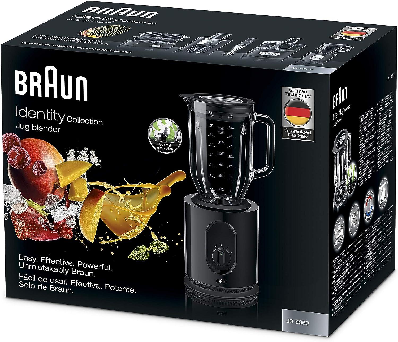 Braun JB5050 Batidora de vaso, Potencia Dual, Vaso thermoresist 2L ...