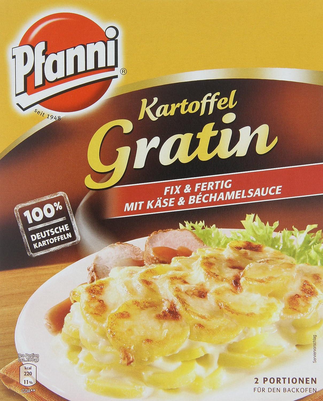 pfanni patatas Gratin con queso y bechamel, 5 x 2 porciones (5 x 400 g): Amazon.es: Alimentación y bebidas