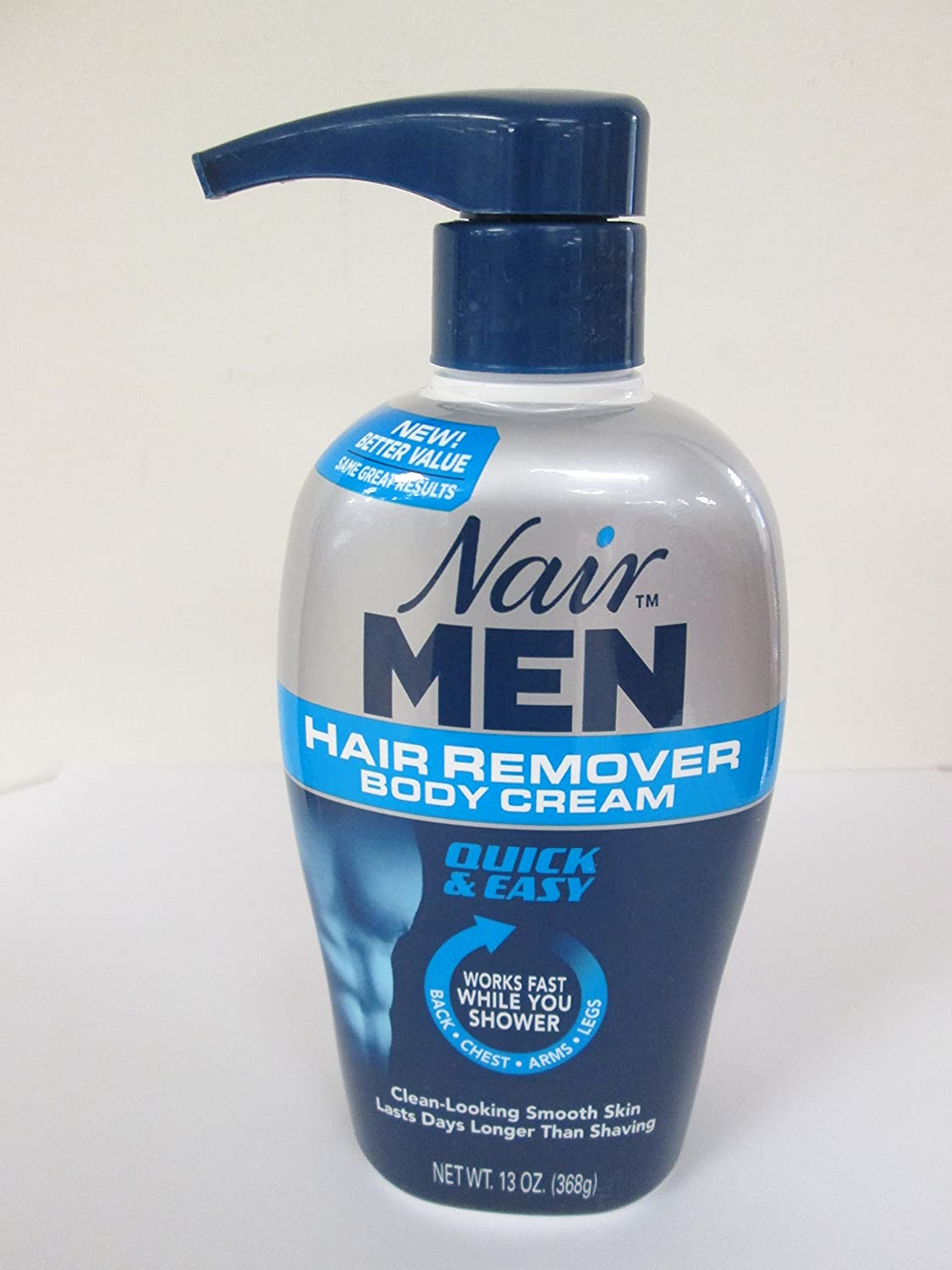Nair Hair Remover Men Body Cream 13oz Pump (6 Pack)