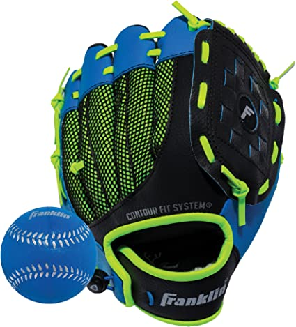 "9/"" Soft Foam Baseball Glove Left Handed Throw Youth Adjustable Sport Air Tech"