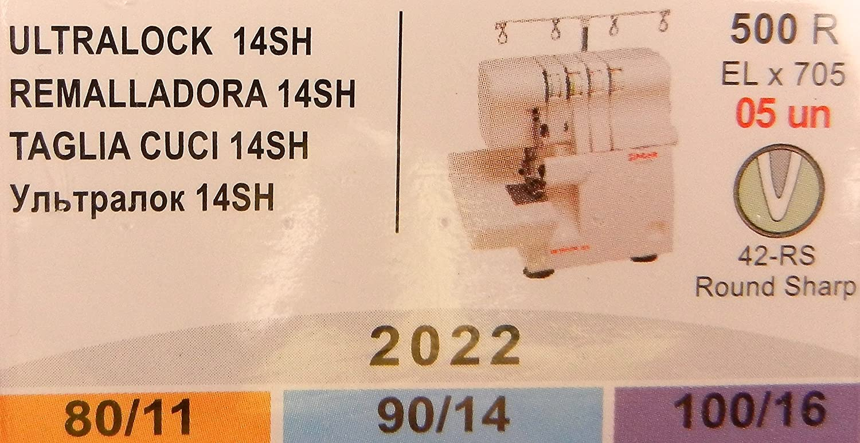 5 unidades 80//11 Agujas para m/áquina de coser 90//14 y 100//16 Singer Overlock Ultra Lock 14SH 2022