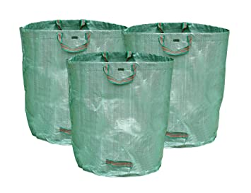 FiveSeasonStuff Set de 3 - 272 Litros Heavy Duty Sacos para Desechos de Jardín, Bolsas