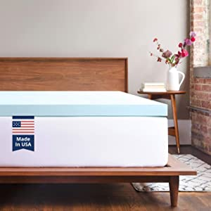 ViscoSoft Memory Foam Mattress Topper Queen | 3 Inch Response Gel Mattress Pad