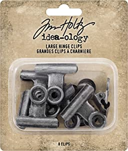 Tim Holtz, Advantus Hinge Large Metal Clips, silver