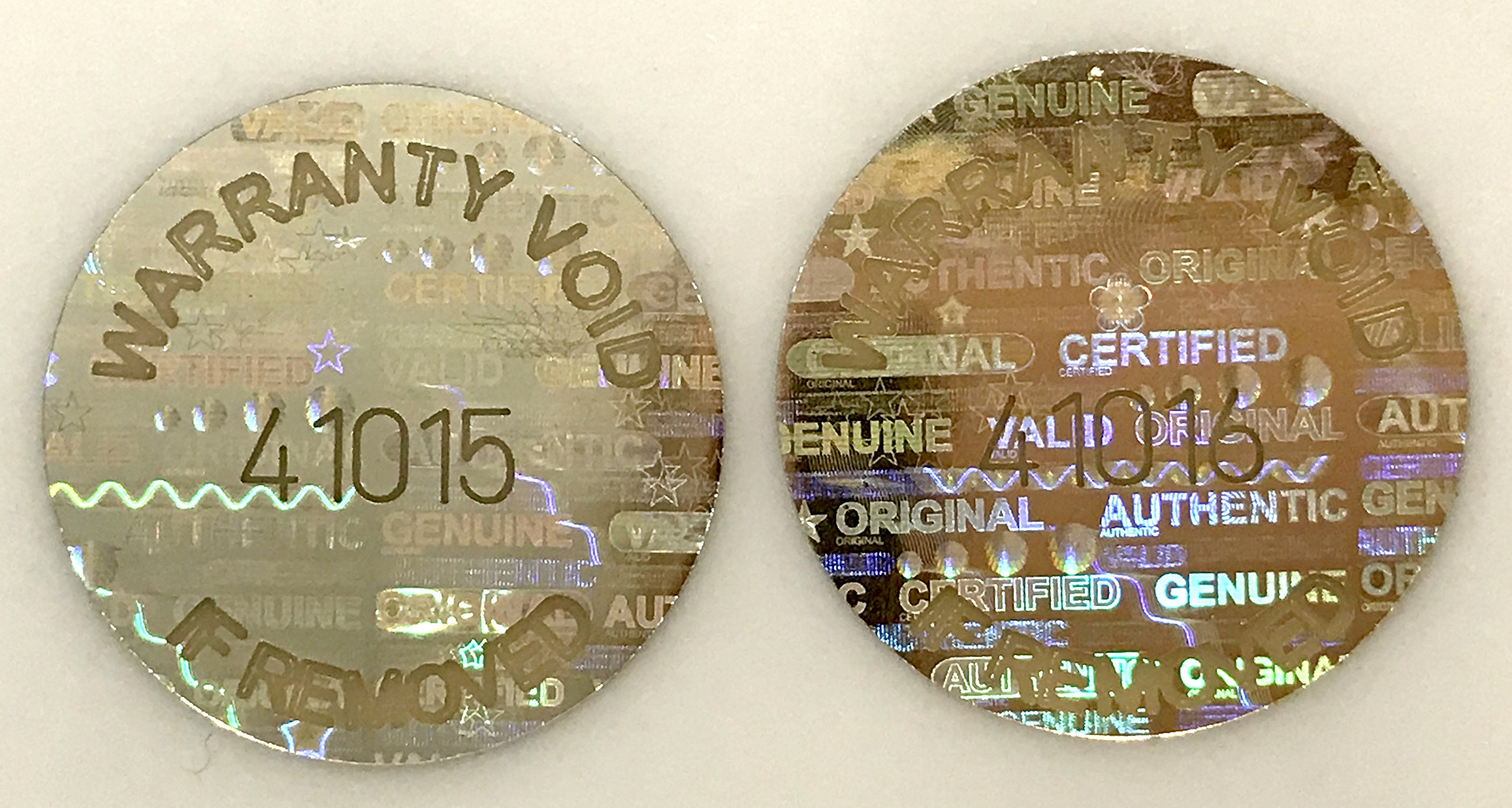 2,000 Gold Round Hologram Tamper Evident Security Labels/ Stickers Tinted Covert Laser Serialized: Unique - Size: 0.625'' Diameter (16mm)