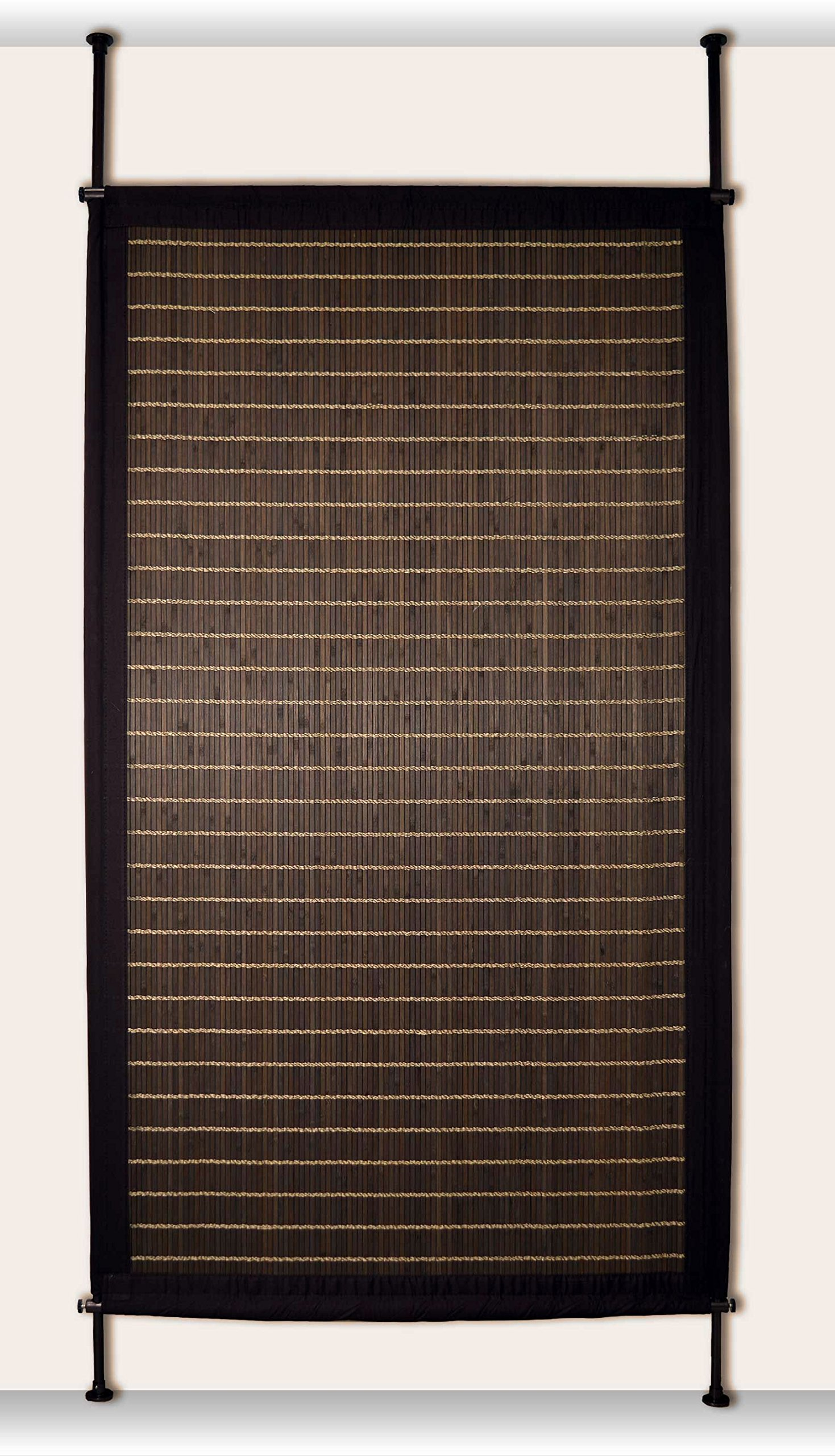 Versailles Home Fashions PP014-12 Bamboo Privacy Panel, 38'' x 68'', Walnut by Versailles Home Fashions