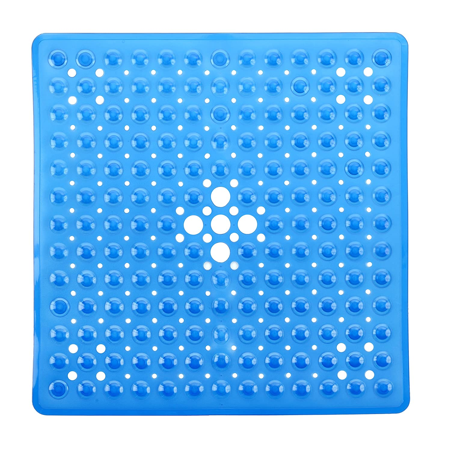 Amazon.com: SlipX Solutions Deluxe Square Shower Mat (Blue): Home ...