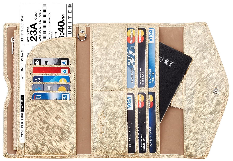 Travelambo Rfid Blocking Passport Holder Wallet /& Travel Wallet Envelope Various Colors tra702