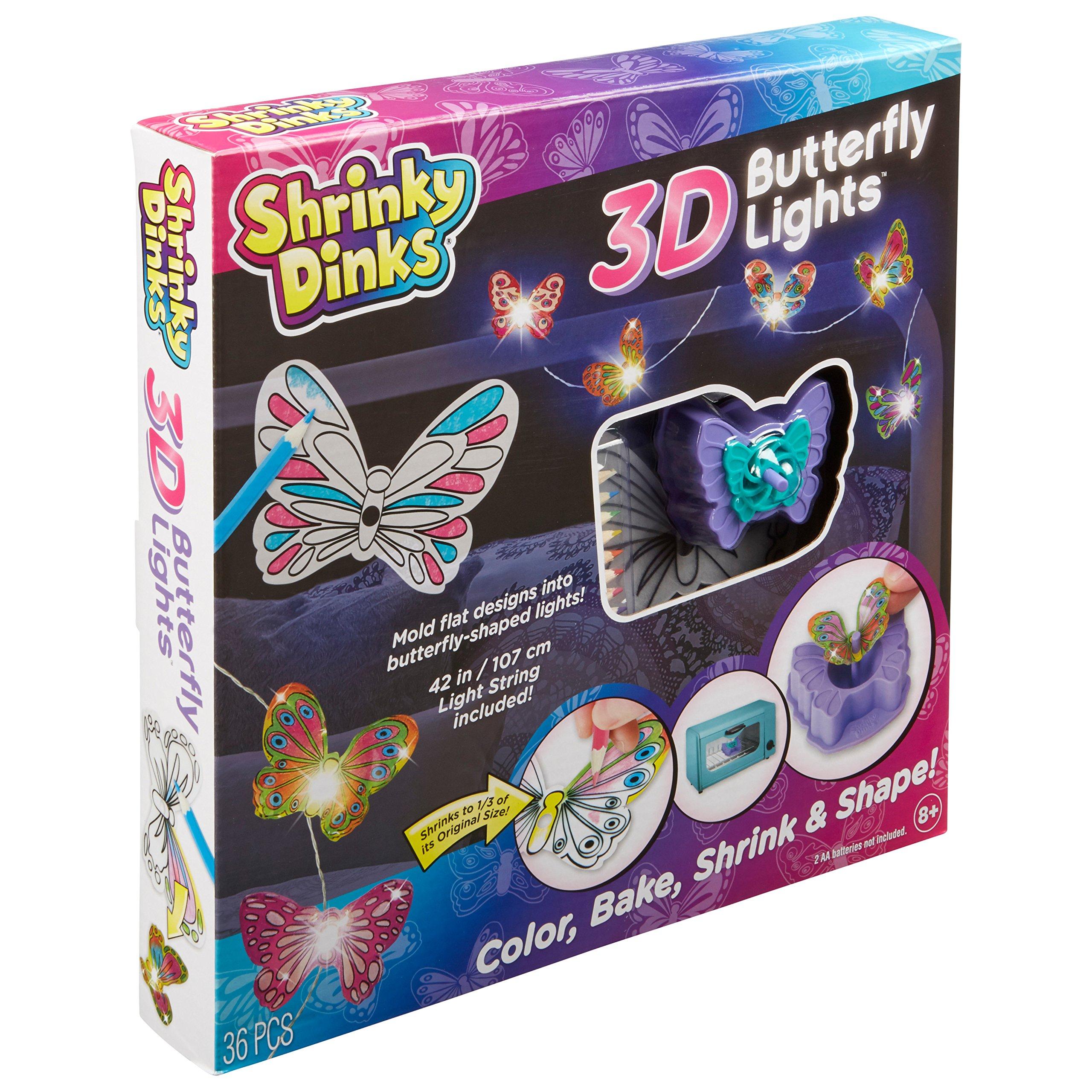 Shrinky Dinks 3D Butterfly Lights Kids Art and Craft Activity