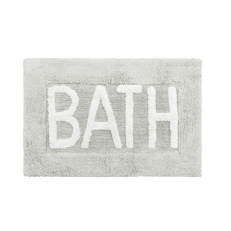 "Jean Pierre Cotton ""Bath"" Rug, Light Grey"