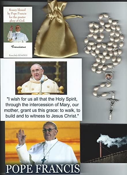 d3cee69c2e Saint Gabriel of Sorrows Relic Rosary Blessed by Pope Francis on 3 14 2013  at 1st Mass Given by Him at Vatican s Sistine Chapel also Includes  Photographs of ...