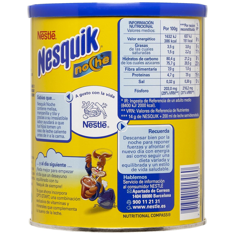 Nesquik Noche - Cacao Soluble Instantáneo - Pack de 2 x 400 g: Amazon.es: Alimentación y bebidas