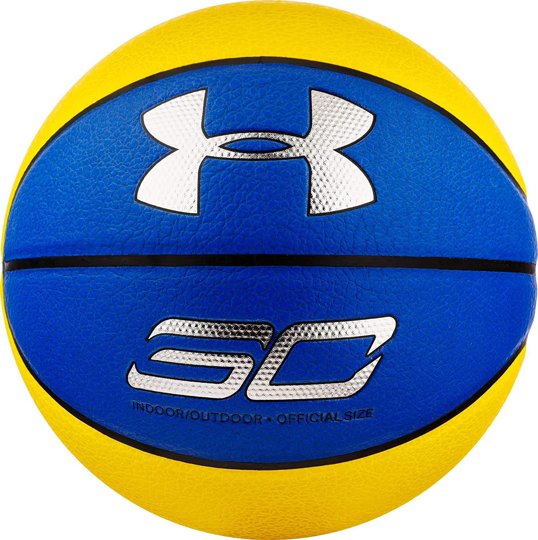 Under Armour Steph Curry Composite de Basketball, Bleu Marine/Jaune, Officielle PSI 91 Inc. BB 169