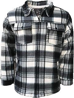 Mens Lumberjack Thick Top Fur Fleece Lined Flannel Work Warm Jacket Padded Shirt