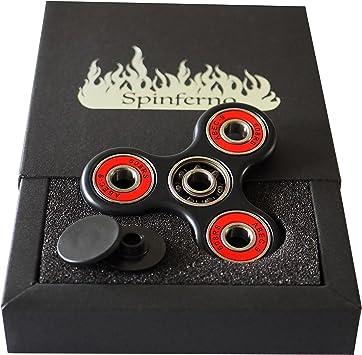 Spinferno Fidget Spinner. Calidad superior. Cojinetes de cerámica híbridos Si3N4 – Ultrarresistente. Anti estrés y ansiedad (TDAH,