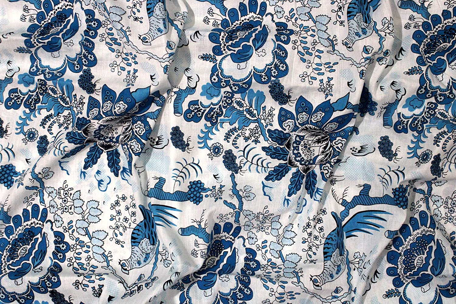 Trade Star Indian Printed Fabric Pattern 1, 3 Yard Ethnic 100/% Cotton Fabric for Dressmaking Boho Fabric for Home Furnishing,Floral Craft Fabric for Sewing,Hand Printed Fabric for Crafting