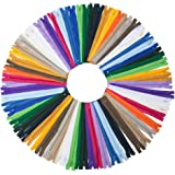 54pcmix Nylon Coil Zippers Tailor Sewer Craft 23cm Crafter's Special