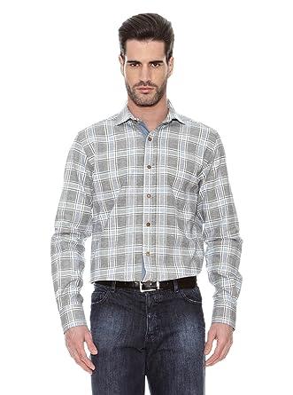 Victorio & Lucchino Camisa Hombre Lino Azul Marino L: Amazon