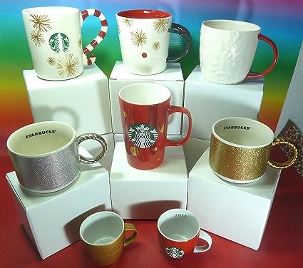 Starbucks Navidad 2015 colección 8 tazas (6 tazas y 2 mini tazas) gozosa,