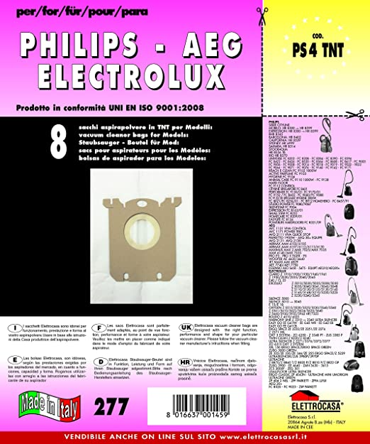 PS 4 TNT - 8 bolsas TNT para Philips y Electrolux: Amazon.es ...