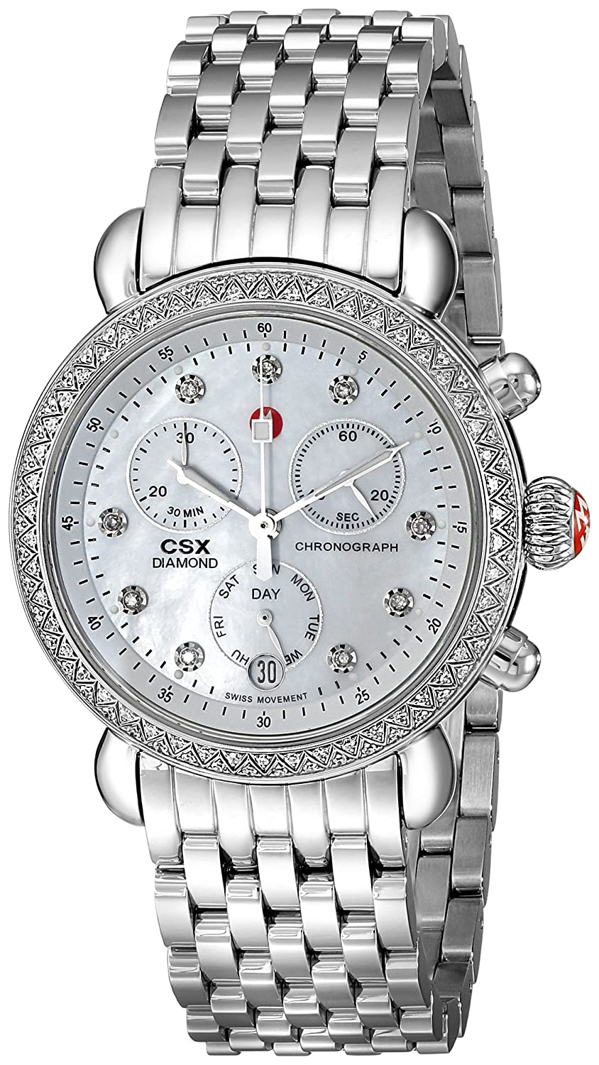 f8c7e626f5f74 Amazon.com  MICHELE Women s MWW03M000114 CSX-36 Stainless Steel Watch with  Link Bracelet  Michele  Watches