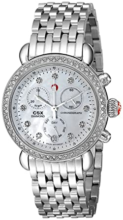 Michele Women S Mww03m000114 Csx 36 Stainless Steel Watch With Link Bracelet