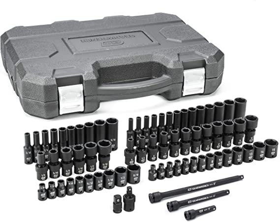 Gearwrench 71 Pc 1 4 Drive 6 Pt Universal Impact Socket Set Standard Deep Sae Metric 84903 Amazon Com