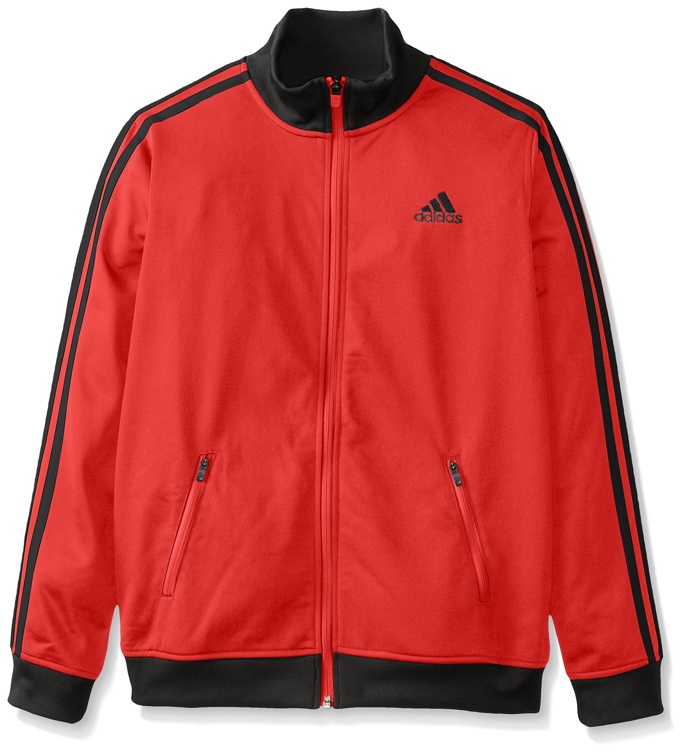 adidas Big Boys' Separates Training Track Jacket, Light Scarlet/Black, Small/8