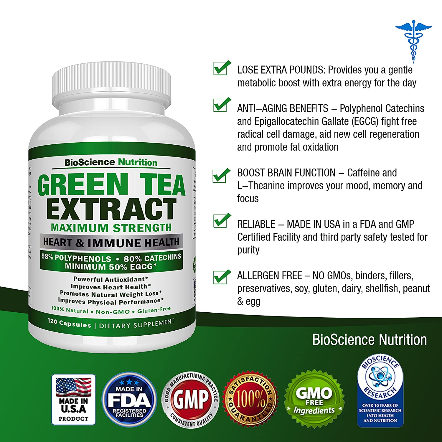 Green tea extract - benefits for the whole body 30