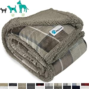 PetAmi Dog Blanket, Sherpa Dog Blanket | Plush, Reversible, Warm Pet Blanket for Dog Bed, Couch, Sofa, Car