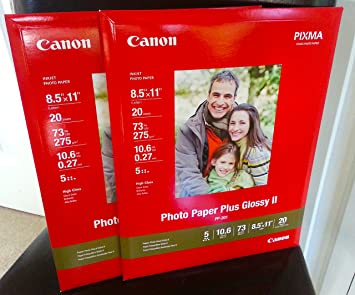 Amazoncom Canon Photo Paper Plus Glossy Ii 85 X 11 Inches 40