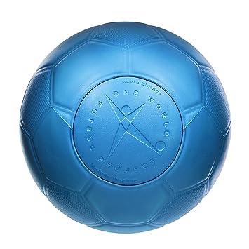 51f6f99c8ab73 One World Play Project - Ballon de foot indestructible -  increvable/indégonflable/non toxique