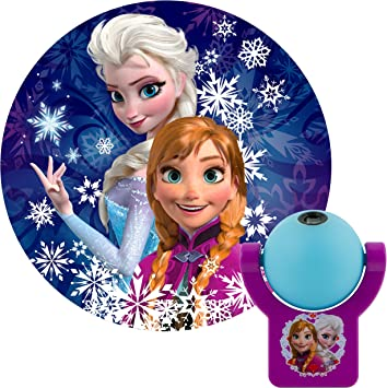 Projectables Frozen LED Night Light, Plug-in, Dusk-to-Dawn, UL Listed, Image of Anna and Elsa on Ceiling, Wall, or Floor, Ideal for Bedroom, Nursery, ...