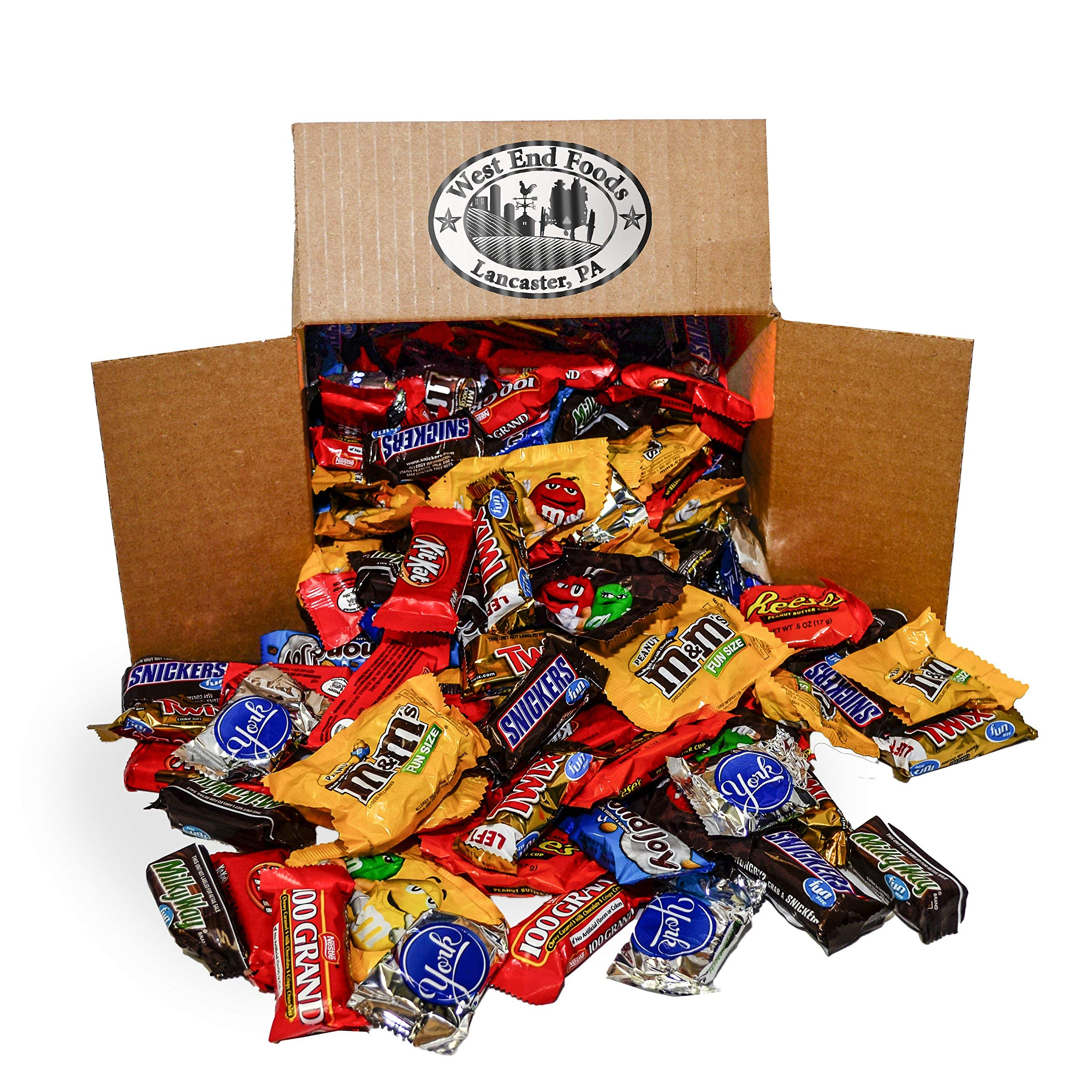 Chocolate Candy Assortment (5.6 lb Bag) Reese's, Milky Way Bars, M&Ms, Snickers, Peanut M&Ms, Twix, Kit Kat, Almond Joy, York, 100 Grand by WEST END FOODS LANCASTER, PA WSNE