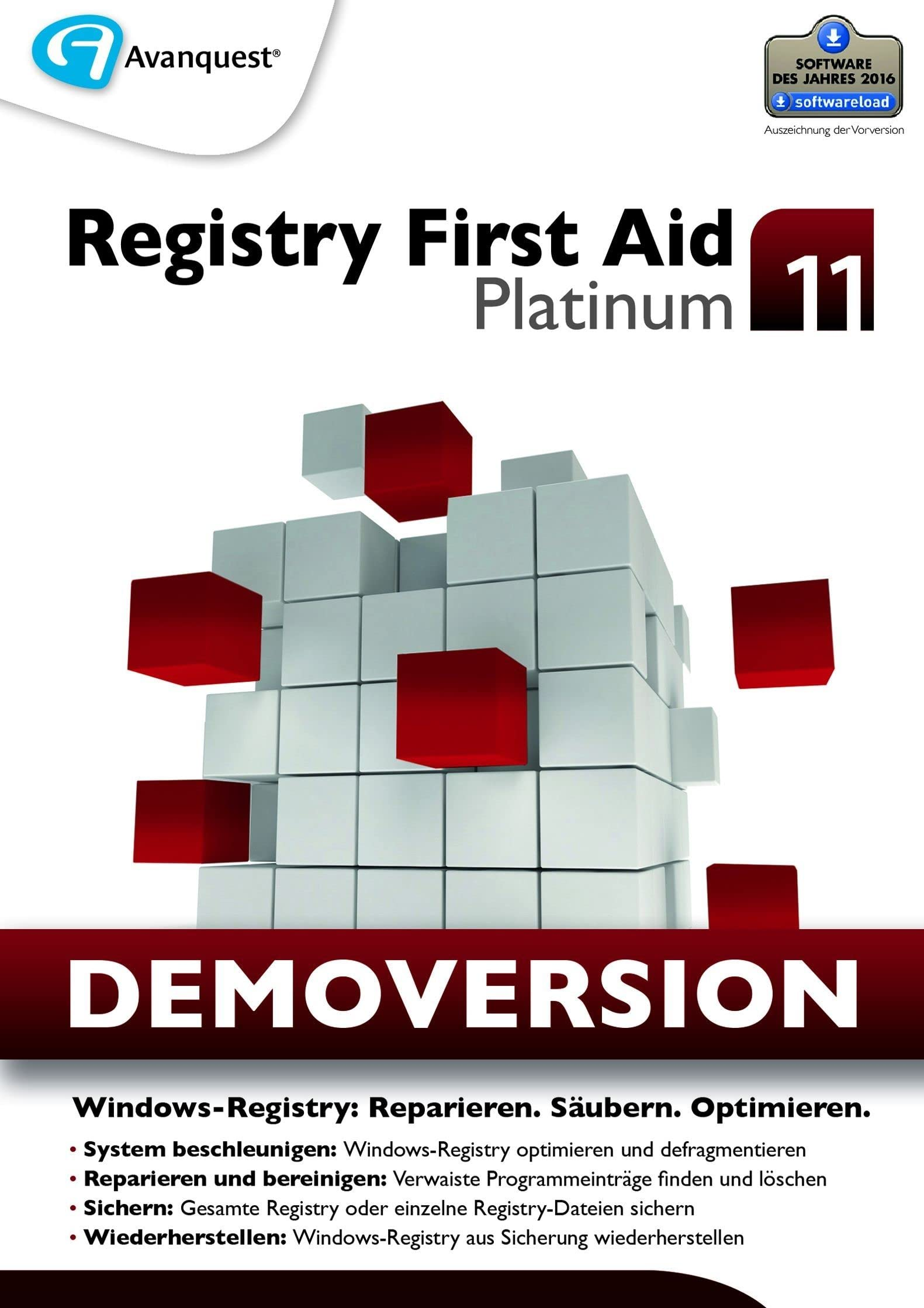 Registry First Aid 11 Platinum Kostenlose Demoversion Windows 10 8 7 Vista Xp Download Amazon De Software